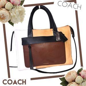 COACH Colorblock  Leather Satchel #30150